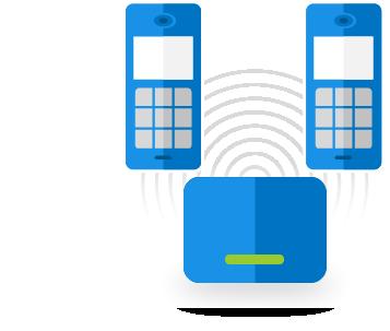 Telefony bezdrátové (DECT)