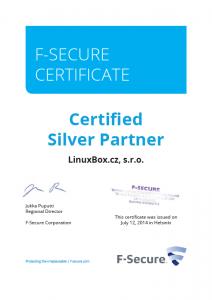 F-SECURE Certificate