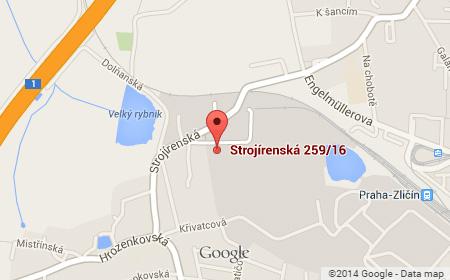 Mapa Servisního střediska Praha Linuxbox.cz